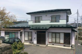 白河市 S様邸 屋根塗装・外壁塗装・ベランダ防水・棟板金取り付け工事