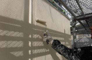 外壁 上塗り状況
