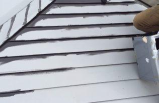屋根 中塗り状況