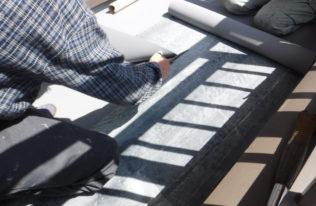 ベランダ床 シート防水工事