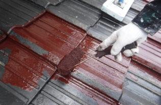塗装工事【屋根中塗り】