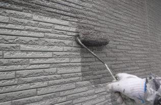 1階)外壁中塗り