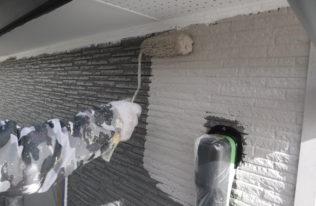 2階)外壁中塗り