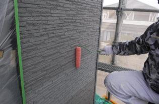 2階)外壁下塗り