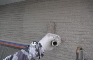 2階)外壁上塗り
