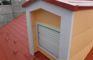 鳩小屋塗装