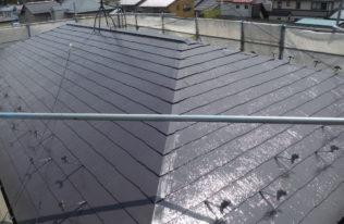 屋根中塗 完了