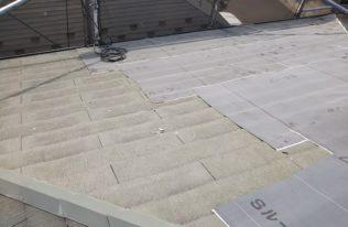 屋根 防水シート貼り