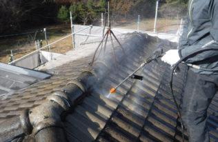 屋根 温水洗浄