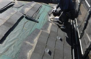 屋根 既存屋根材撤去