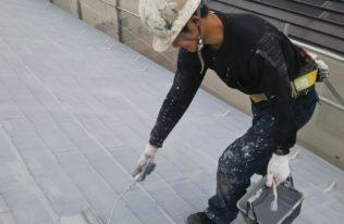 屋根 下塗り(2回目)