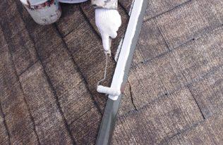 屋根 棟板金塗装