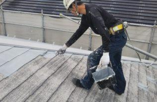 屋根 下塗り(1回目)