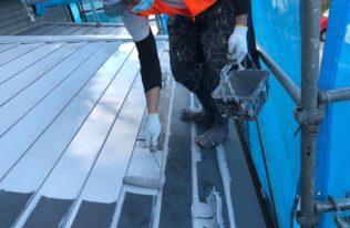 屋根 下塗り 状況