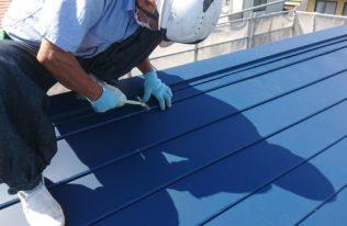 屋根重ね葺き 施工