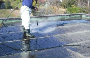 屋上防水 洗浄