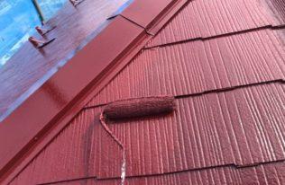 屋根上塗り 状況