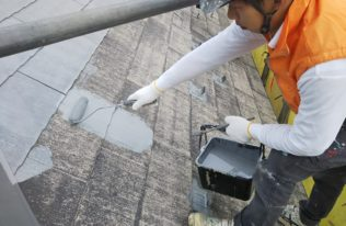 屋根 下塗り状況