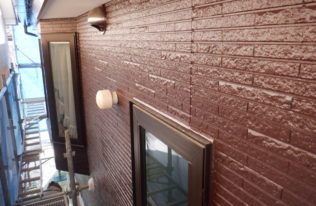 外壁 上塗り 完了 (1F)