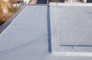 屋上 FRP防水中塗り 完了
