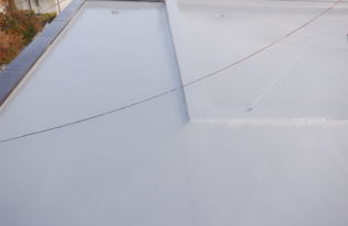 屋上 トップコート塗布 完了