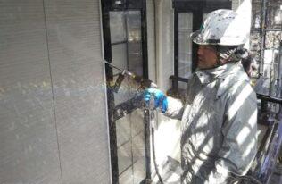 外壁 高圧洗浄状況