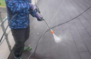 屋根高圧洗浄 状況