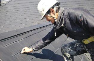 屋根 タスペーサー設置状況