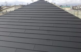 屋根 重ね葺き完了