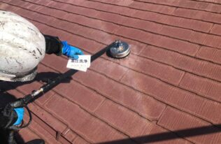 屋根 高圧洗浄状況