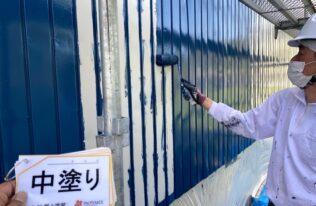 外壁中塗り 状況