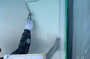 外壁2階中塗り 状況