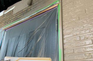 外壁1階中塗り 状況
