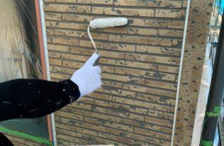 外壁1階下塗り 状況