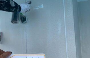 外壁2階下塗り 状態