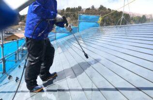 屋根 高圧洗浄 状況
