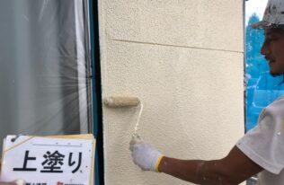 外壁 上塗り 状況
